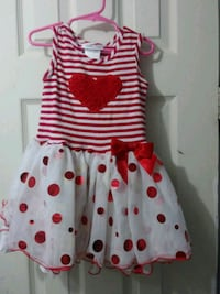 white and red polka dot dress Clearwater