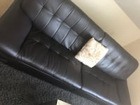 Black leather tufted chaise lounge Dedham, 02026