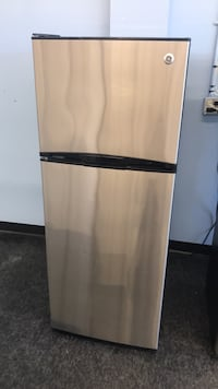 White and black top-mount refrigerator