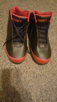 black-and-red AND 1 basketball shoes Saint James, 65559