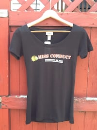 Chicago Blackhawks Miss Conduct Scoop Neck Tee - Size M - Brand New With Tag Chicago, 60622
