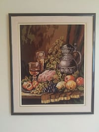 brown wooden framed painting of fruits Laval, H7N 3M4