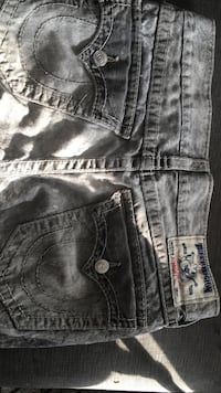 Gray acid washed true religion jeans Toronto, M3A