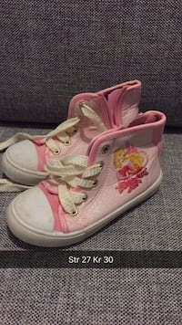 par rosa Converse All Star høy-top sneakers