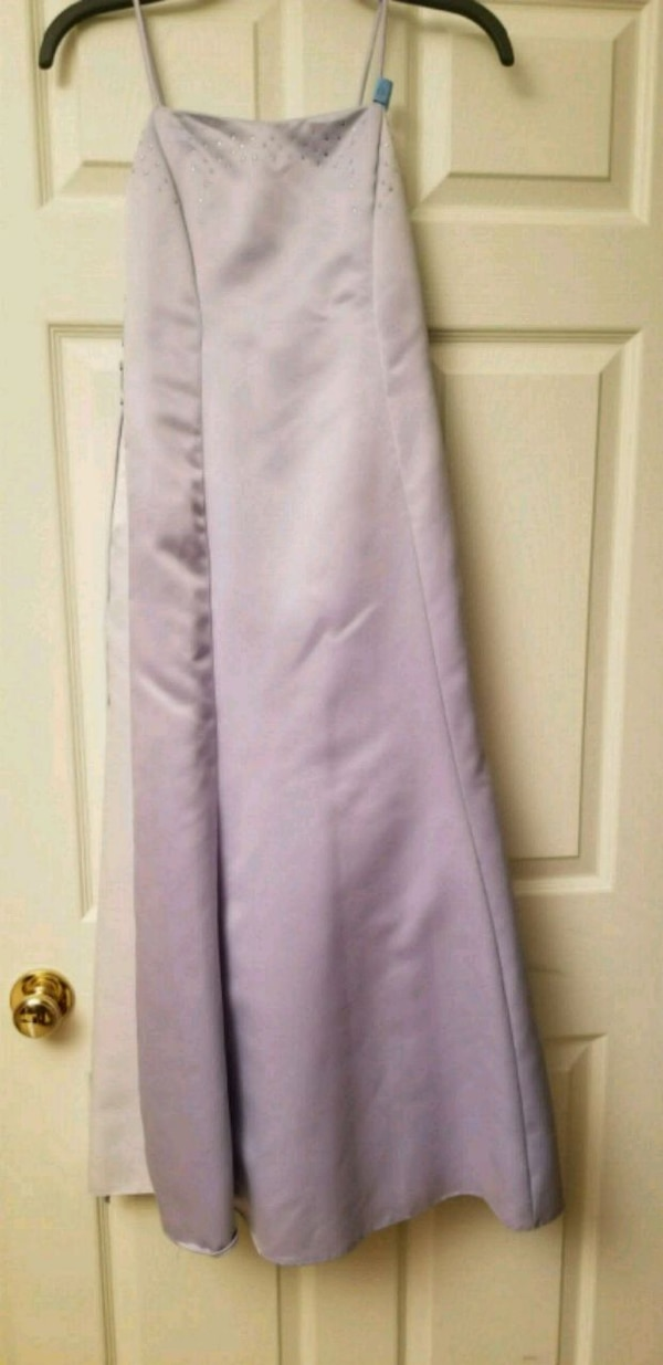 Gorgeous Lilac Rhinestone Dress Brand Marshmallow  0