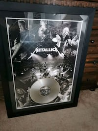 Metallica framed picture