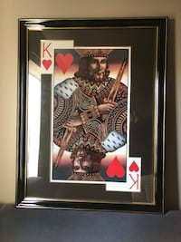 King of hearts painting with black freame