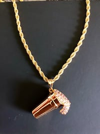 New double cup pendant with rope chain  Irving, 75062