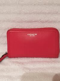 Coral COACH Leather Wristlet Vienna, 22180