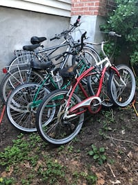 two black and red cruiser bikes Westport, 06880