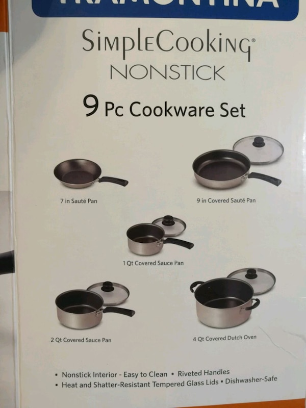 9-piece non-stick cookware - NEW 1