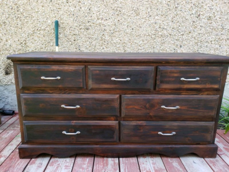 Solid wood dresser  0