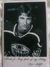 Gretzky 18th birthday picture signed Edmonton, T5T 2B2