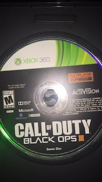 Call of Duty Black Ops 3 Xbox 360 game disc Montréal, H1C 1N4