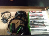 Xbox 360 games ,turtle beach headset, controller