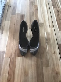 Pair of grey and silver high heels Maple Ridge, V2X 8T3