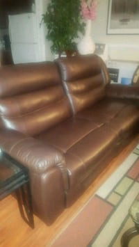 brown recliner leather 3-seat sofa Katy, 77449
