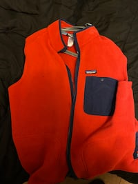 Red Patagonia Fleece Vest