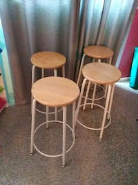 Four brown wooden bar stools Germantown, 20874