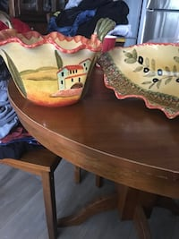 two brown wooden table decors Vaughan, L4J 8N8