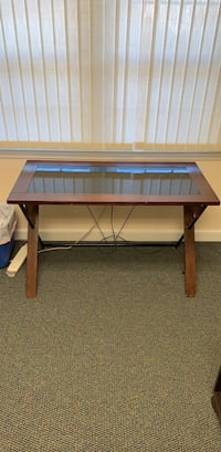 Glass Top Brown Desk Arlington, 22207