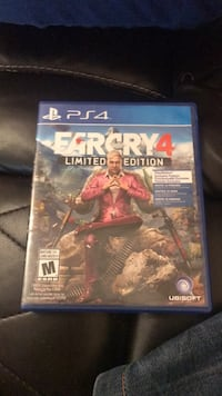 PS4 Farcry 4 game case Mississauga, L5M 6K5