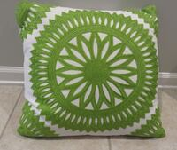Fancy Green and White Pillow Alexandria