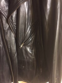 Black leather zip up jacket Alexandria, 22304