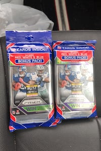 2018 PANINI PRIZM FOOTBALL CELLO JUMBO PACK LOT OF 2 or best offer Beltsville, 20705