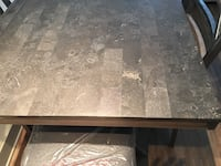 Distressed Gray 7 Piece Dining Room Table Set Farmers Branch