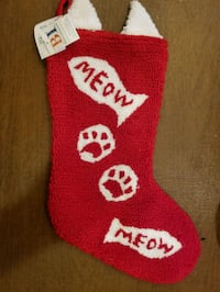Cat Christmas Stocking  38 km