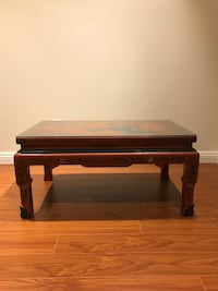 Wooden coffee table with glass top Toronto, M3B 2Z1