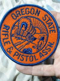 Oregon rifle patch Hunting and fishing patch  Camas, 98607