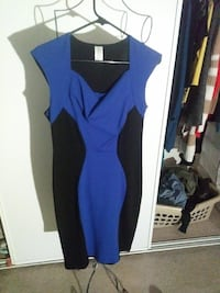 black and blue sleeveless sheath dress Victorville, 92392