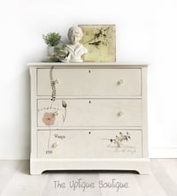 French cottage solid wood dresser chest of drawers sideboard credenza 624 km
