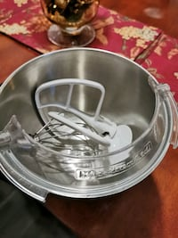 KitchenAid stainless steel mixing bowl with guard & accessories Brampton, L6P 4E4