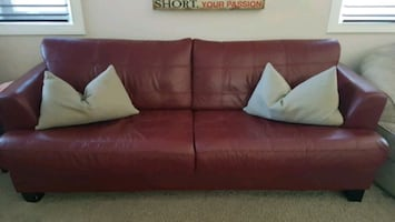 Cindy Crawford Dark red sofa couch