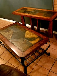 brown wooden and tile coffee table and table San Antonio, 78244