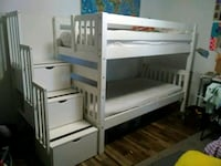 HEAVY WOOD STAIR BUNK BED Odessa