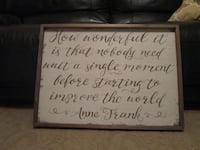 Anne Frank Wooden Wall Print