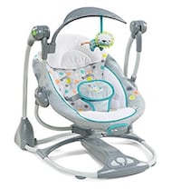 Baby's gray and white cradle n swing. Never used. Name you best price Danbury, 06811