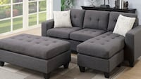 Grey small space living sectional and ottoman Fresno, 93728