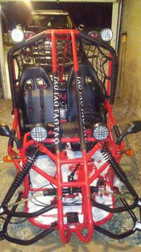black and red offroad go-kart