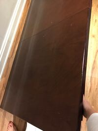 Solid Walnut table.  4 chairs solid wood but not sure if it's walnut. Vaughan, L4H 3J6