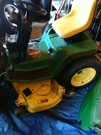 green and yellow John Deere ride on lawn mower District Heights, 20747