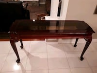 Glass and wooden console Kirkland, H9H 5A3