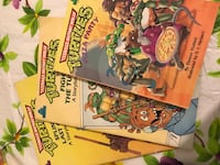 three TMNT comic books