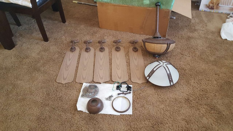Letgo Brown And White 5 Blade Ceiling Fan In Chandler Az