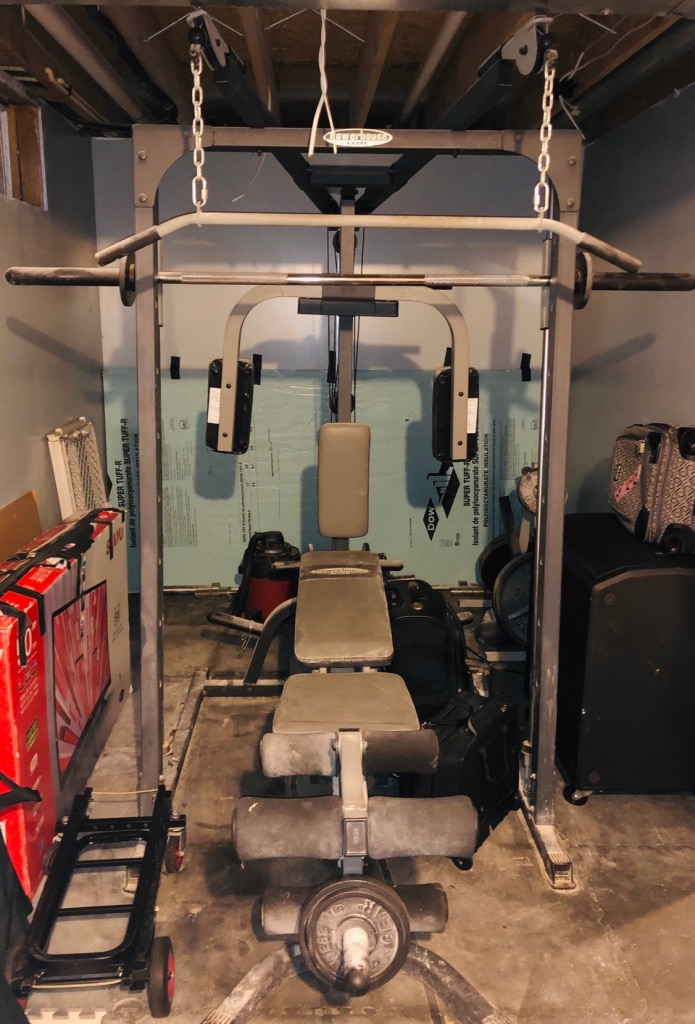 Used powerhouse elite home gym free weights for sale in colora
