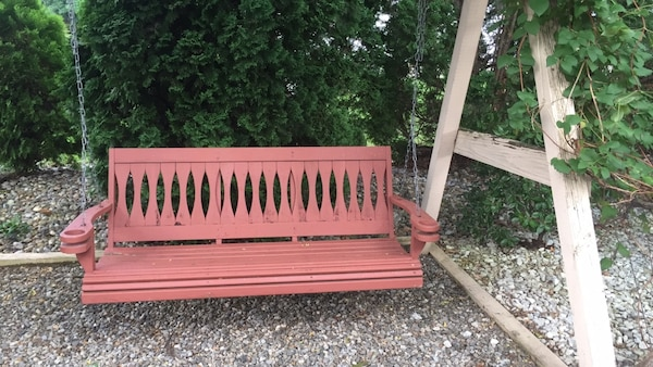 Used Wooden Hanging Swing Bench For In Sayreville